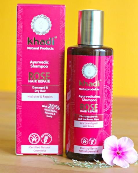 khadi rose hair repair shampoo test extrem trockene haare blondblog. Black Bedroom Furniture Sets. Home Design Ideas